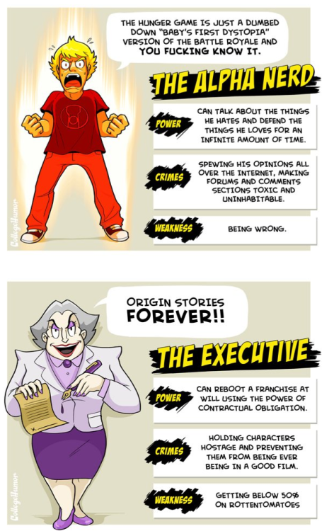 collegehumor:  The Six SuperVillains of Nerd Culture [Click to continue reading] Keep an eye out for these at Comicon!