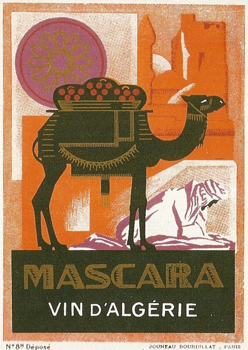 Algeria Wine Label - Mascara (early to middle 20th century)