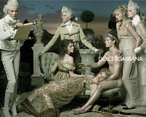 visuallyoverwhelming:  Oooh, the days when Dolce & Gabbana actually had some of the best ad campaigns  2006