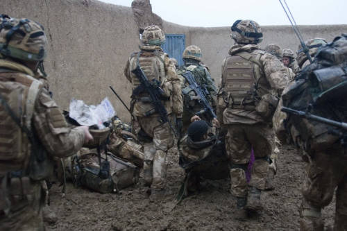 Royal Marine Commandos during operation Sond Chara, the clearance of Nad-e Ali District of Helmand province in southern Afghanistan by Afghan national security force and troops deployed with the International Security Assistance Force 42-Commando in late December 2008.