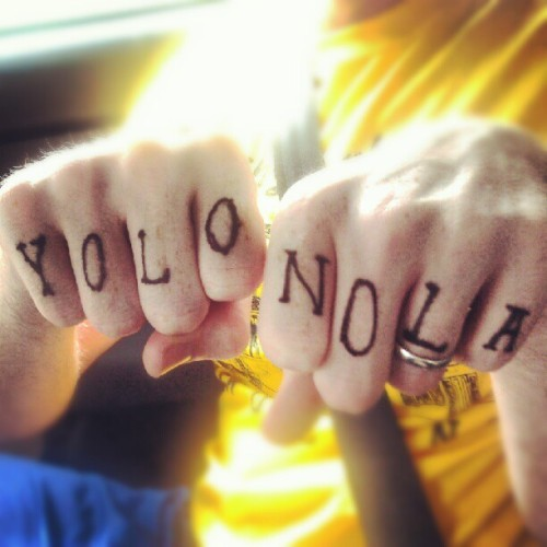 i have a lot of time on my hands, two day drive back home… #YOLO #NOLA (Taken with Instagram at jesse vaughan's blue car)