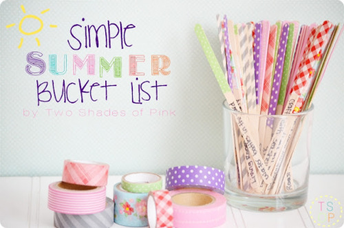 Washi Tape Summer Bucket List via Two Shades of Pink