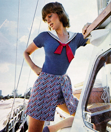 Nautical teen fashion, Seventeen magazine, May 1972.