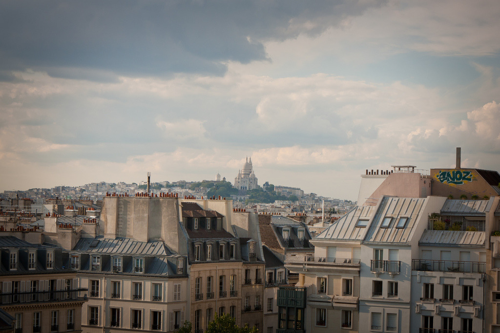 July 25, 2011 Montmartre, from far away Centre Pompidou