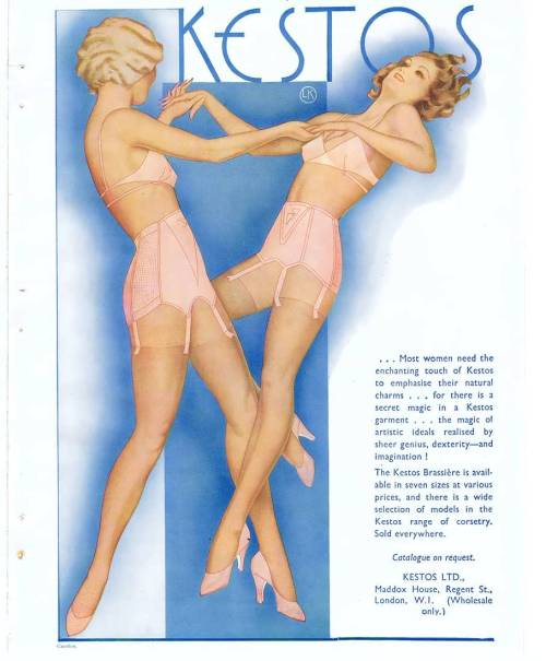 Kestos lingerie advertisement   via
