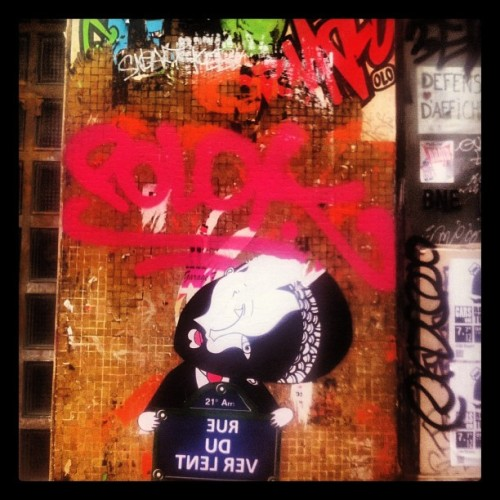 Street art. #france #paris #art #streetart #graffiti  (Taken with Instagram at Rue Oberkampf)