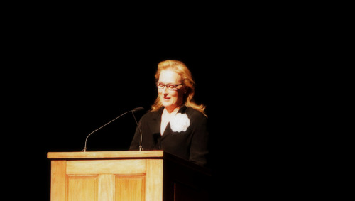 "seddy91:  Meryl Streep | Nora Ephron's Memorial Service ♥ July 9, 2012""Sometimes you have to wait until your friend leaves the room to say how great she is, because she absolutely would never put up with any of this if she were within earshot."" - Meryl Streep"