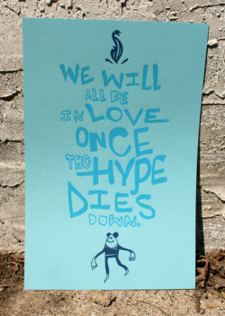 New poster print.  2-color on 11x17 light blue paper. Available on Etsy for only $10.00. Hollar!