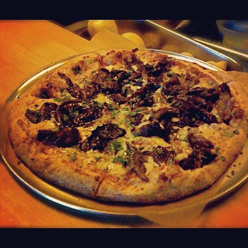 Pie o' the day: braised lamb with manchego, balsamic yellow onion, and spicy tomato sauce (Taken with Instagram at Harry's Pizzeria)
