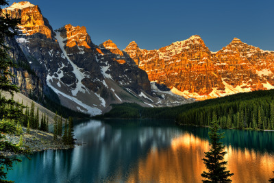 Moraine Lake sunrise, Banff National Park by Hai Chen