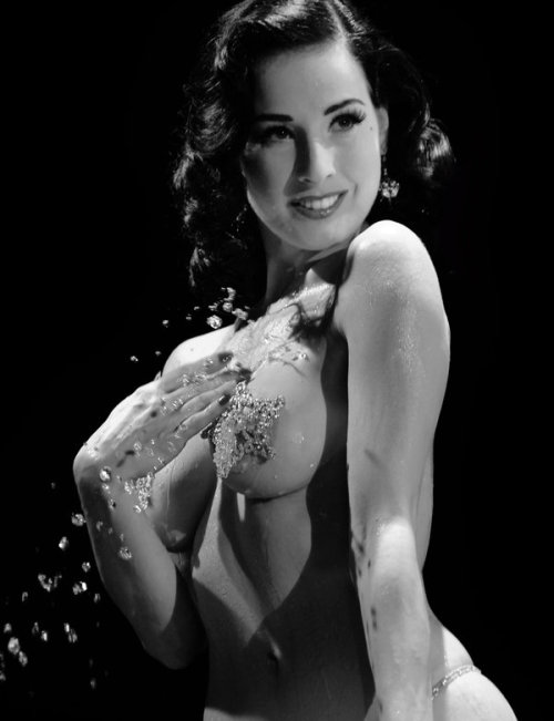erotiquetenderness:  Dita Von Teese water play by *DaveAyerstDavies
