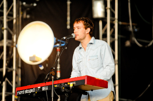 Ben Lovett of Mumford & Sons performs at Open'er Festival in Gdynia, Poland on 7th July 2012. Photo copyright P. Tarasewicz.