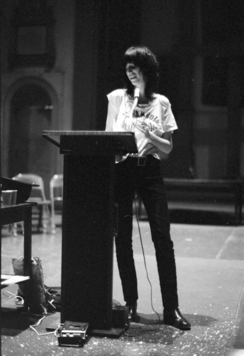 Patti Smith - Early Poetry Readings & Rock Shows, 1971-74 Hat tip to Bryan Waterman for pointing out Ubu Web's killer collection of early 70s Patti Smith recordings. The St. Mark's poetry reading is especially fun — Patti can be hilarious when she wants to be. And the Max's Kansas City set provides an intriguing glimpse of the pre-Horses Patti Smith Band.