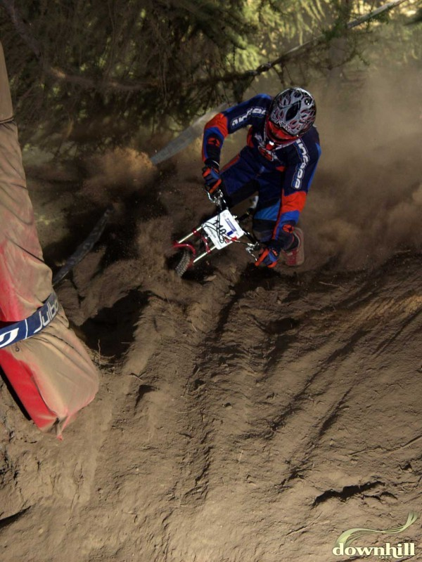 This the berm's eaten his bike!