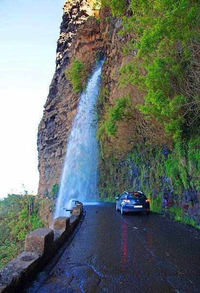 Waterfall Highway, Madeira, Portugal photo via jennifer