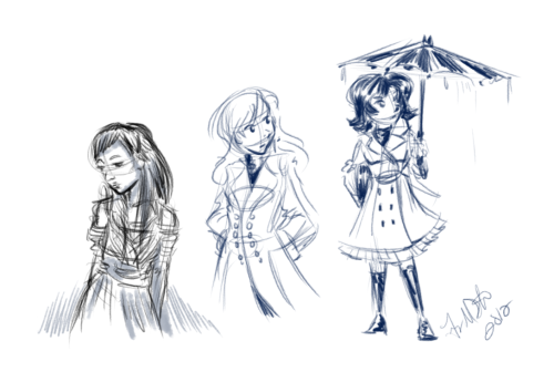 some doodles I did in between work today…