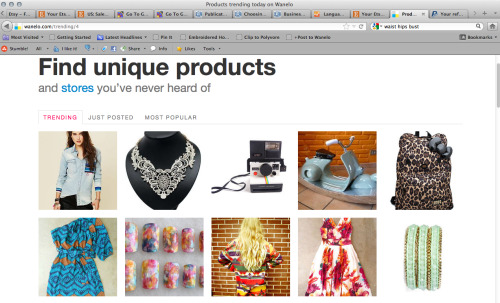 One of RepeatClothing's items is trending on Wanelo's home page! :D So happy/excited.I went shopping today and found tons more new stuff(as usual)