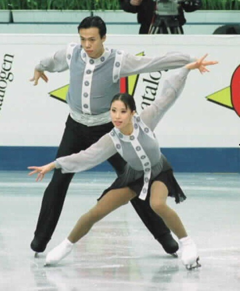 Xue Shen and Hongbo Zhao's Mulan costumes at the 1999 World Championships. Photo by Barry Mittan.