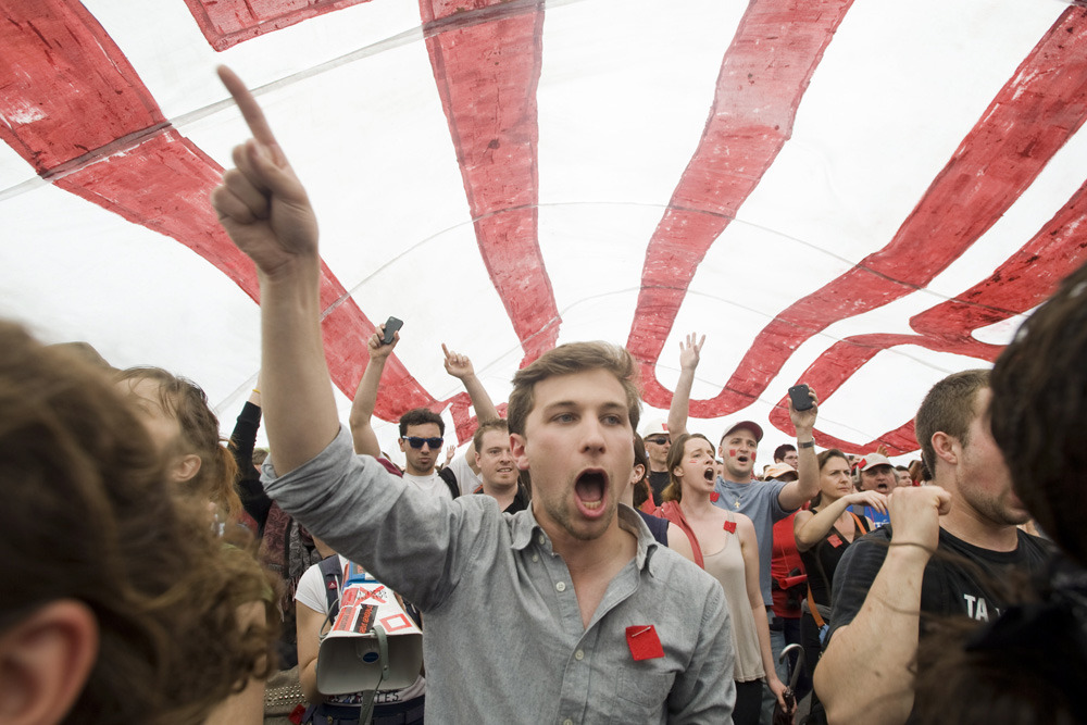 "Quebec student leader takes protest on road as group looks to create Ontario 'strike movement'Gabriel Nadeau-Dubois, known for his telegenic looks and refusal to condemn violence, has been recruited to teach Ontario student leaders about Quebec's paralyzing student strikes, as Ontario students appear to be setting the stage for their own season of discontent.The Canadian Federation of Students has organized and funded Mr. Nadeau-Dubois and other Quebec organizers to tour 10 Ontario universities for its Quebec-Ontario Student Solidarity Tour.""We are optimistic that a general student strike in Ontario can and will succeed, given the right ingredients,"" an open letter from Quebec activists to the CFS said, adding the letter ""represents a first step towards creating a radical, democratic strike movement in Ontario and beyond."" (Photo: Graham Hughes/The Canadian Press)"