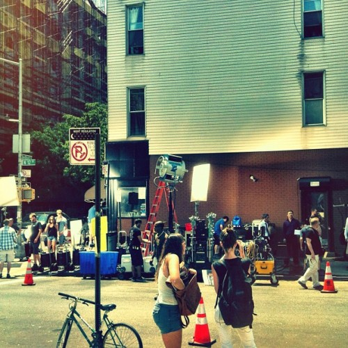 seriesofinterest:  Person of Interest filming in New York… It's not mine. Original post found here: http://instagram.com/p/M_Q8DJn0xG/
