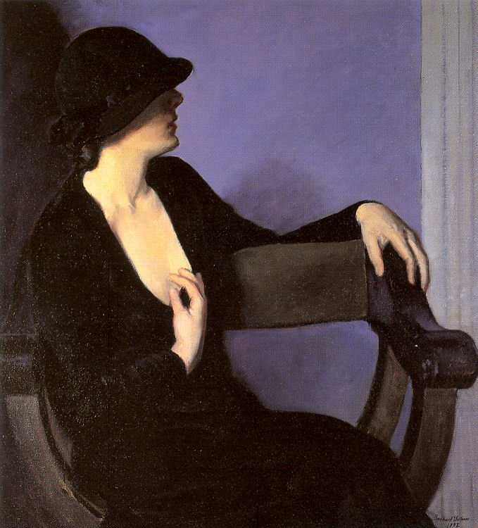 colourthysoul:  Bernhard Gutmann - Study of a Woman in Black (1932)