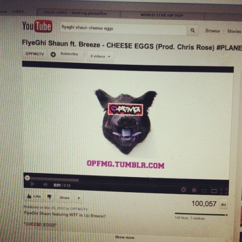 "It Took Hard Work & Time But We Hit 100,000 Views On ""Chee$e Eggs"" !! (Taken with Instagram)"