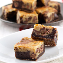 e-levated:  Chocolate Chip Cookie Brownies