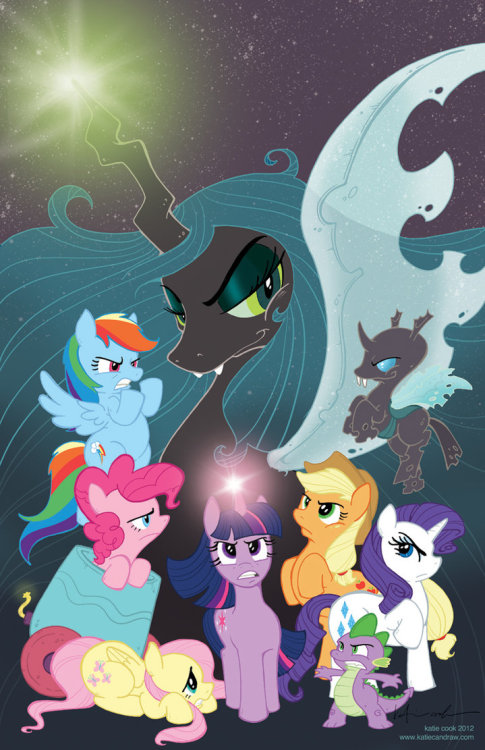 IDW Snags My Little Pony License, Katie Cook to Write No surprise that someone's bringing out MLP comics, I just can't believe it took so long. However, I suspect there was quite the competition for the license. I hope they follow Boom's Adventure Time example and invite various artists to variant covers and back-ups. (I need to see an Elena Barbarich pony comic, you guys.)