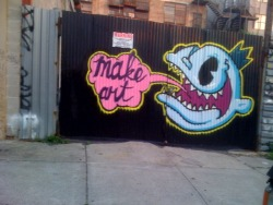 "Photo: ""Make Art"" says Bishop 203"