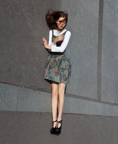 Anais Pouliot photographed by Viviane Sassen for Carven Fall 2012