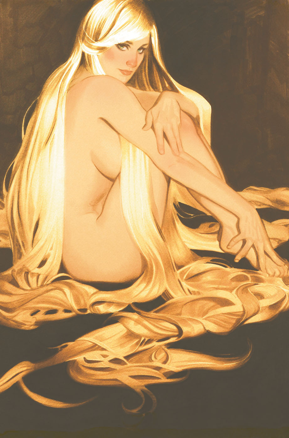 spacebetweenpanels:  Fairest #8  (Cover art by Adam Hughes)