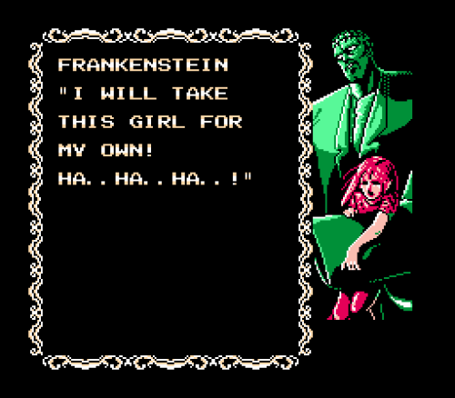 Frankenstein - The Monster Returns, NES.
