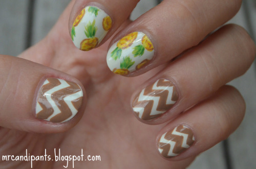 mrcandiipants:  You know the drill, go read more about this mani on my blog! I list all the info and colors and crap over there, so read it if you're curious about anything. Also read it if you love me. : )