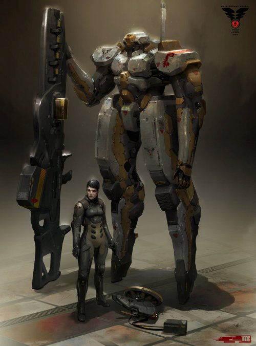 Anti Armor Mech and Pilot by Trevor Claxton