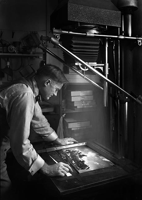 A. Aubrey Bodine making printsOctober 24, 1949Unidentified photographer (possibly self-portrait)Baltimore City Life Museum CollectionMaryland Historical SocietyB655-23B