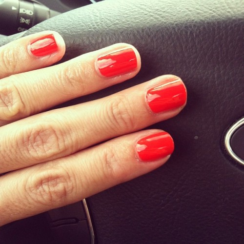 Loving my bright orange #nails (Taken with Instagram)