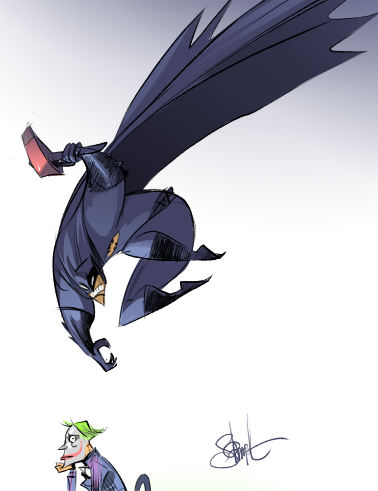 Batman vs Joker by Pixel Mixer