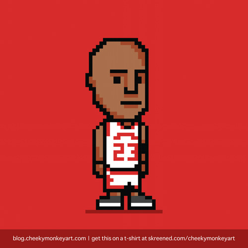 8-Bit Michael Jordan | Purchase this on a t-shirt, or as a digital print.
