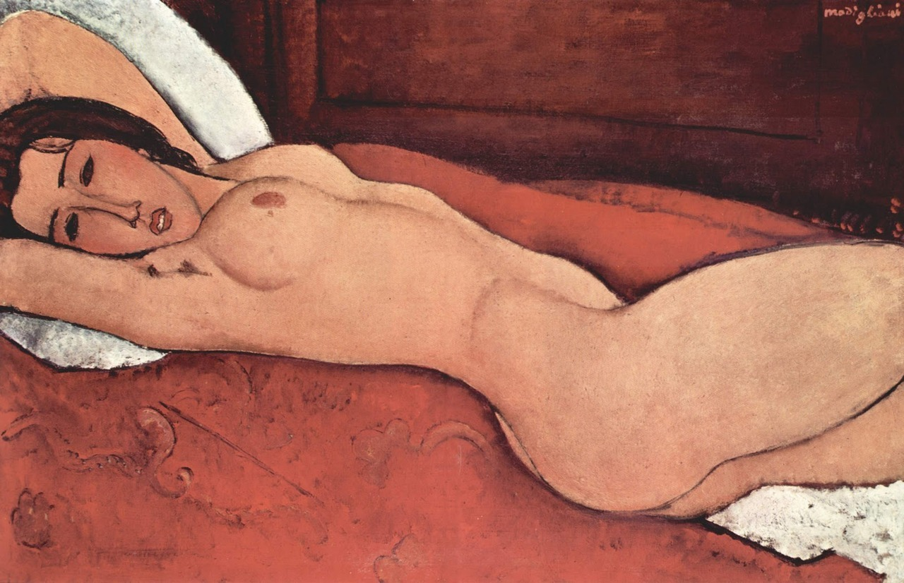 Amedeo Modigliani: Reclining Nude, 1917 - oil on canvas (The Metropolitan Museum of Art, NYC)