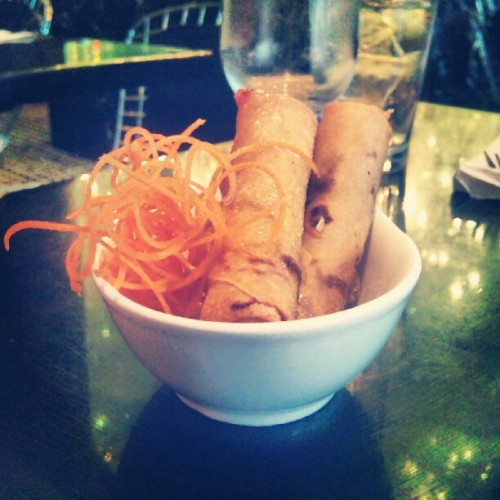 #springrolls #food #newyork #ny #nyc #hellskitchen  (Taken with Instagram at Room Service)