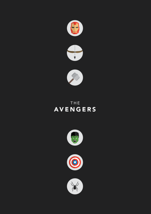 minimalmovieposters:  The Avengers by Joe Warburton