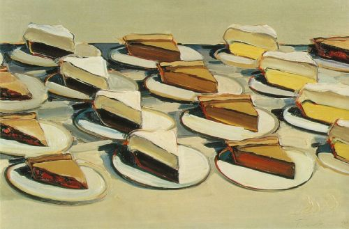 Pies, Pies, Pies by Wayne Thiebaud, 1961