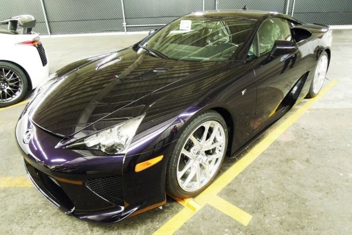 "2012 Lexus LFA Black Amethyst Debuts  Lexus showed off what it is calling the ""first and only Black Amethyst"" 2012 Lexus LFA on its Facebook page.  The LFA starts at $375,000 and offers about 30 paint choices, including unexpected ones such as lime green, sunset orange, lavender and ""passionate pink,"" according to the Lexus LFA configurator. Most of the choices are variations on white and black. The Black Amethyst color is also listed as a choice. Read more"