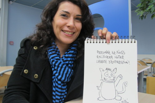 dynamicafrica:  Guardian: Tunisian cartoonist Nadia Khiari: 'I draw to take the heat off certain situations'   A teacher at the Faculty of Fine Arts in Tunis and a cartoon fan, Nadia Khiari was so dismayed by the former Tunisian president Zine al-Abidine Ben Ali's response to the popular uprising in January 2011, she started drawing a cat commenting on current events. Her 'Willis from Tunis' series quickly became very popular.  (watch video)