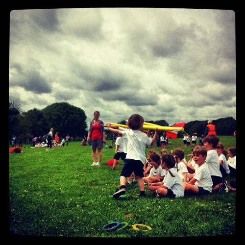 Stamford Primary School preps for the #Olympics with the #javelin (Taken with Instagram)
