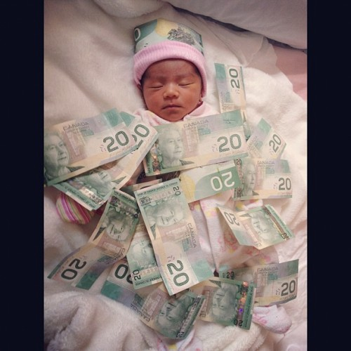 Baby Misa is ballliiinnnngggg! $$$ AHAHHA  (Taken with Instagram)