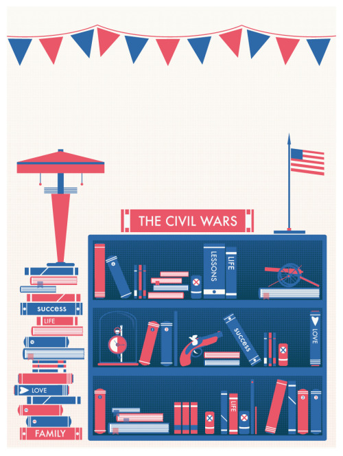 This is the finished poster. I'm a fan of The Civil Wars and I made this poster with them in mind. I'm also always a huge fan of americana so that definitely had an influence.