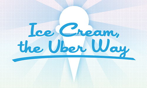 On Friday July 13th, the Uber app will transform into an awesome Ice Cream Truck delivery service! Simply open your app, toggle to the Ice Cream Cone, and we'll deliver you some delicious Ice Cream treats. Wanna get in on the fun? Tweet us a picture of you eating Ice Cream in the next 19 hours (before our 11 AM kickoff tomorrow), and we'll hook you up with $5 of Uber credits. Tweet must be directed at @Uber_NYC and must include the hashtag! #OMGUBERICECREAM You must have (or set up) an Uber account to get the $5 in credit. Only good for folks in NYC.