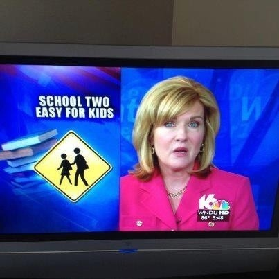 funnyordie:  A TV News Fail at its Finest They say a picture says a thousand words. This pic says one: irony.