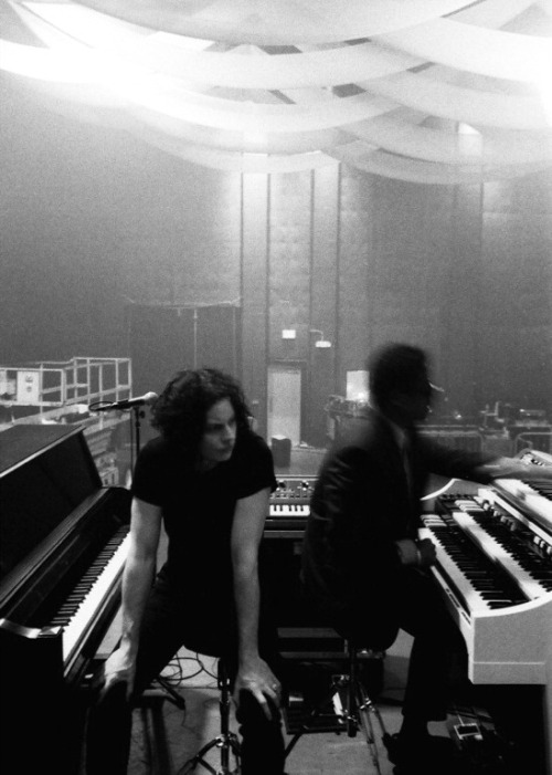thirdmanrecordsofficial:    Jack White and Ikey Owens. Blunderbuss Tour. 2012.
